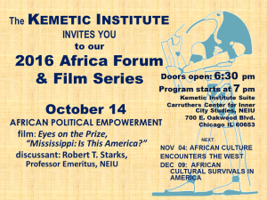 Oct 14 Africa Forum: African Political Empowerment @ Kemetic Institute Suite, Jacob Carruthers Center for Inner City Studies, NEIU | Chicago | Illinois | United States